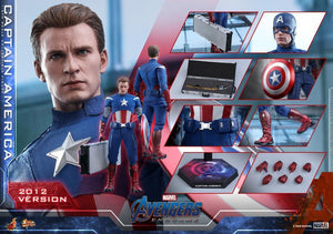 Hot Toys 1/6 Avengers Endgame Captain America (2012 Version) Sixth Scale Figure MMS563 1