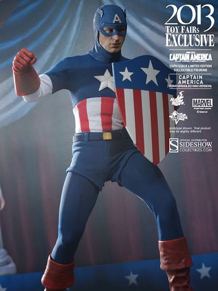 Hot Toys Captain America Star Spangled Man Version 1/6 Scale Action Figure MMS205