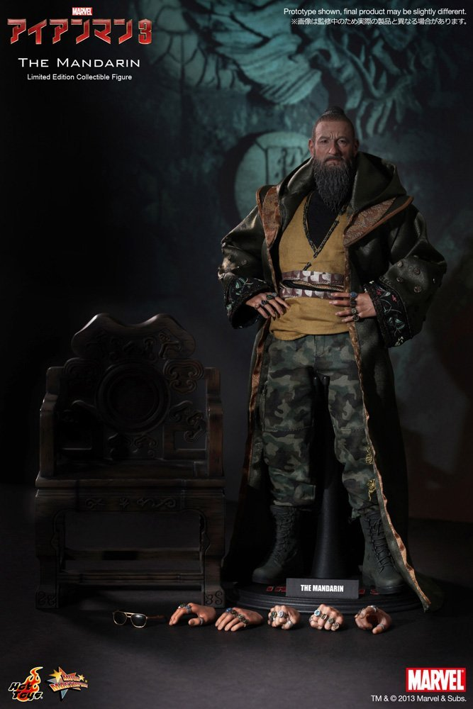 Hot Toys The Mandarin from Marvel Studios Iron Man 3 1/6 Scale Action Figure MMS211