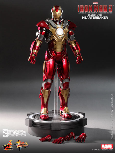 Hot Toys 1/6 Iron Man Mark 17 XVII Heartbreaker Sixth Scale Figure MMS212