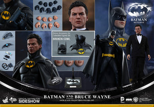 Hot Toys Batman and Bruce Wayne Batman Returns 1/6 Scale Action Figure MMS294