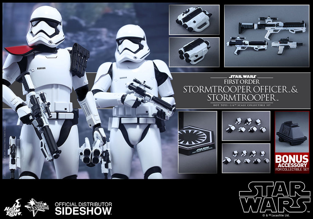 Hot Toys 1/6 First Order Stormtrooper Officer & Stormtrooper Set Star Wars Episode VII The Force Awakens MMS335 Sixth Scale Figures