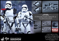 Hot Toys 1/6 First Order Stormtrooper Officer & Stormtrooper Set Star Wars Episode VII The Force Awakens MMS339 Sixth Scale Figures