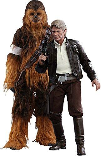 Hot Toys 1/6 Star Wars The Force Awakens Han Solo And Chewbacca 2 Pack Sixth Scale MMS376