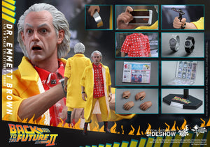 Hot Toys 1/6 Back to the Future II Dr. Emmeret Brown Sixth Scale Figure MMS380 1