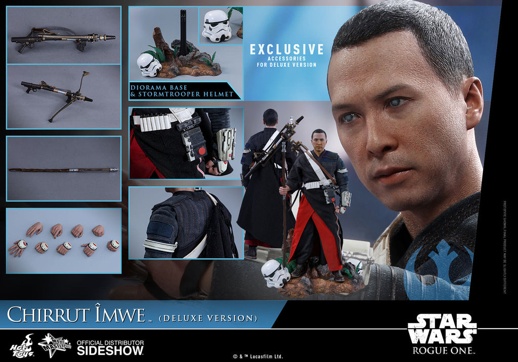 Hot Toys 1/6 Star Wars Rogue One Chirrut Imwe Deluxe Ver Sixth Scale Figure MMS403
