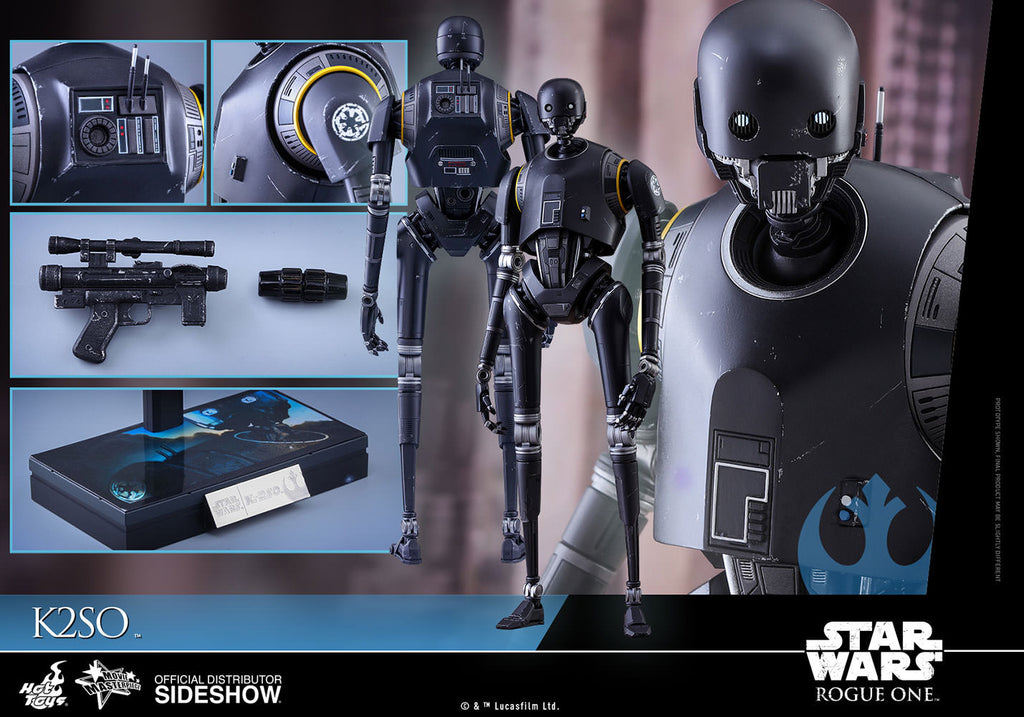 Hot Toys 1/6 Star Wars Rogue One K-2SO (K-2S0) Sixth Scale Figure MMS406