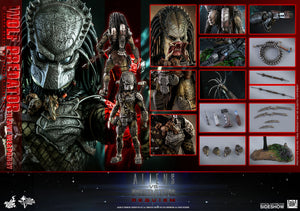 Hot Toys 1/6 Alien vs Predator Requiem Wolf Predator Heavy Weaponry Sixth Scale Figure MMS443