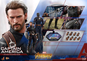Hot Toys 1/6 Avengers Infinity War Captain America Sixth Scale Figure MMS480