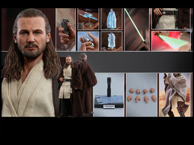 Hot Toys 1/6 Qui-Gon Jinn Star Wars Episode I The Phantom Menace Sixth Scale MMS525