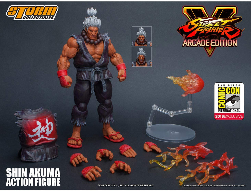 Storm Collectibles 1/12 Street Fighter V SDCC 2018 Arcade Edition Shin Akuma Scale Action Figure 1