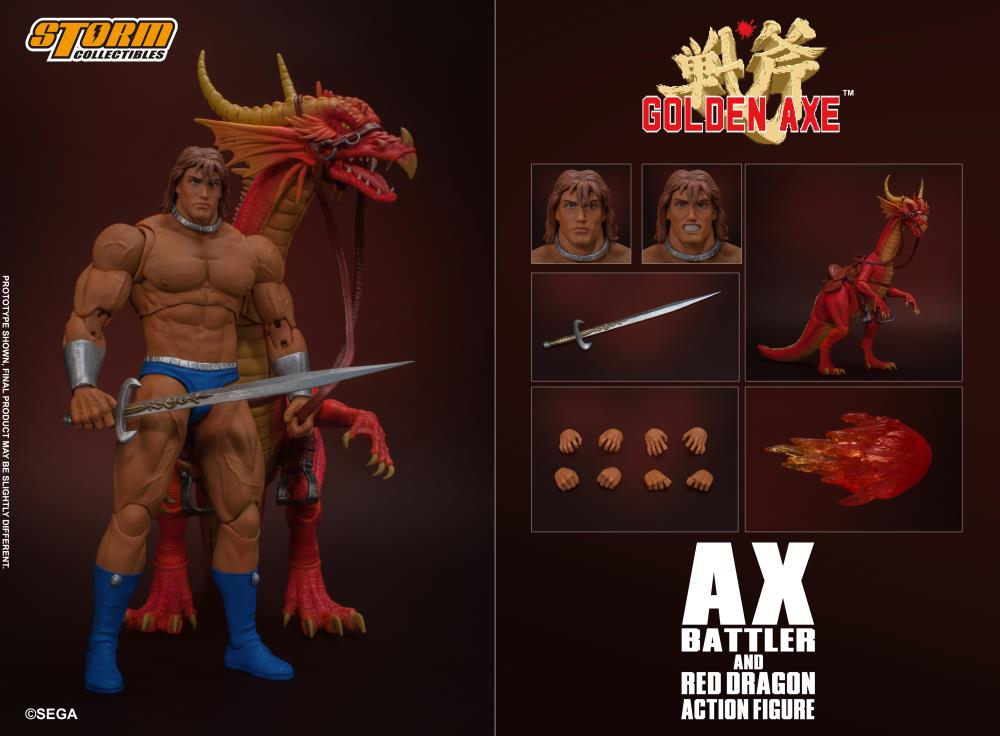 Storm Collectibles 1/12 Golden Axe Ax Battler & Red Dragon Scale Action Figure