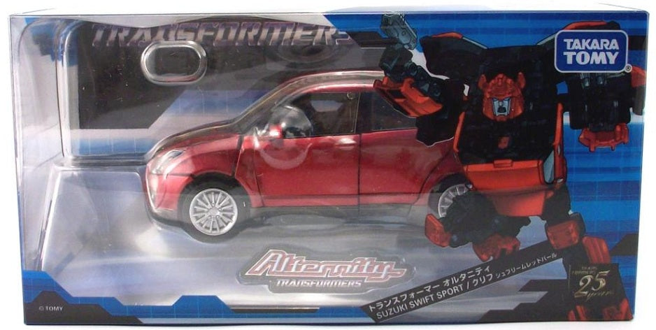 Transformers Alternity A-03 Cliffjumper Suzuki Swift Sport [Supreme Red Pearl]
