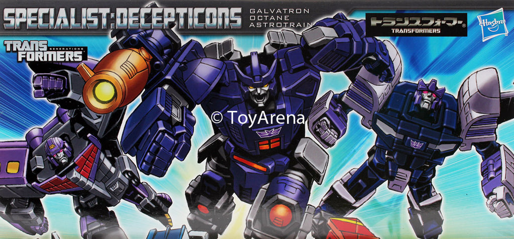 Transformers Henkei Classic Specialist Decepticon Galvatron, Octane, Astrotrain 3-Pack Action Figure Set Asia Exclusive