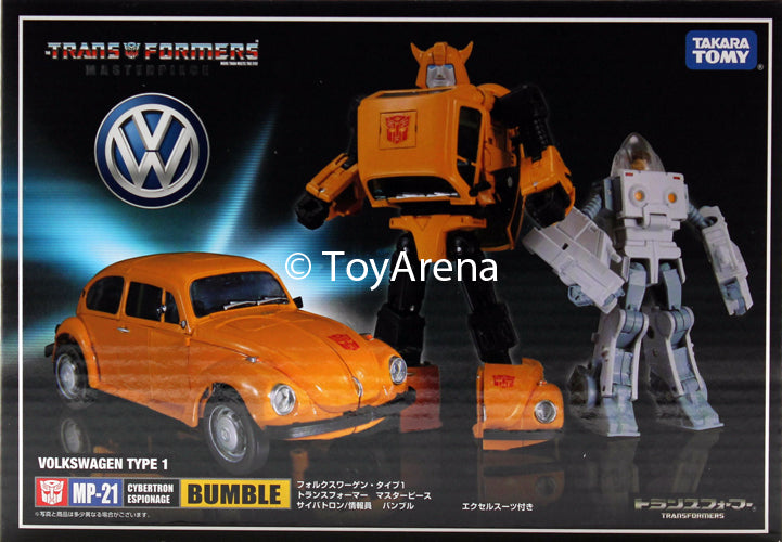 Transformers Masterpiece MP-21 Bumblebee Volkswagen Type 1 Super Beetle w/ Exosuit Spike