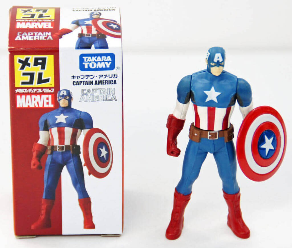 Takara Tomy Marvel Metakore Metal Figure Captain America Action Figure