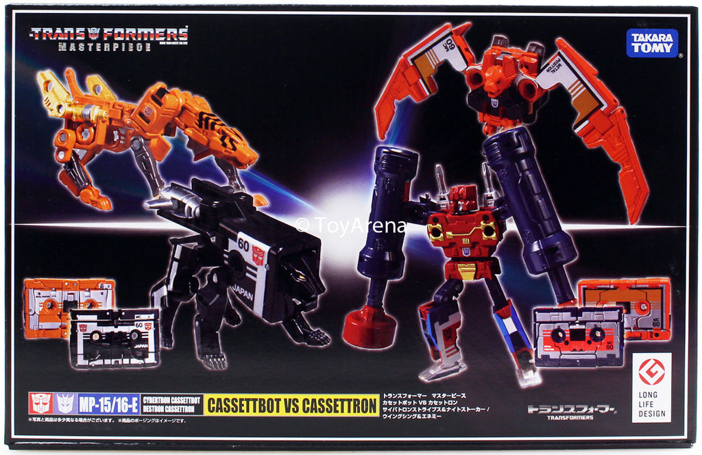Transformers Masterpiece MP-15/16-E Cassettbot vs Cassettron