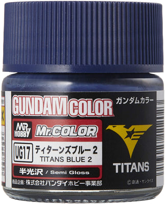 Mr. Hobby Mr. Color Gundam Color UG17 Titan Blue 2 Semi Gloss 10ml Bottle