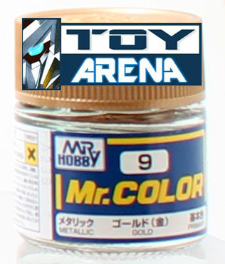 Mr. Hobby Mr. Color C9 Metallic Gold 10ml Bottle