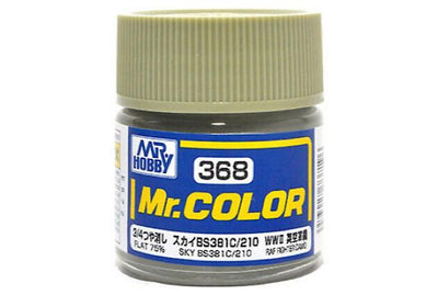 Mr. Hobby Mr. Color C368 Flat 75% Sky BS381C/210 WWII British RAF Fighter Camo 10ml Bottle