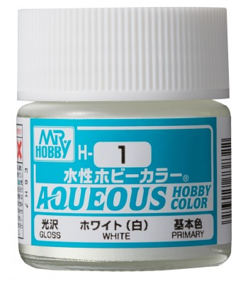 Mr. Hobby Aqueous Hobby Color H1 Gloss White 10ml Bottle