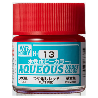 Mr. Hobby Aqueous Hobby Color H13 Flat Red 10ml Bottle