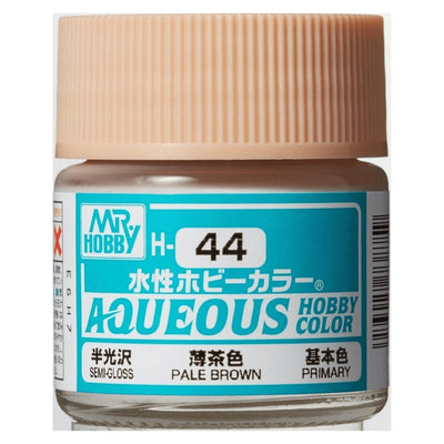 Mr. Hobby Aqueous Hobby Color H44 Semi Gloss Pale Brown (Flesh Tone) 10ml Bottle