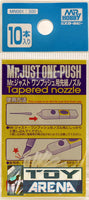 Mr. Hobby Mr. Just One-Push Tapered Nozzle 10pcs MN001