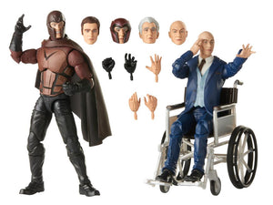 Marvel Legend 20th Anniversary X-Men 2000 Magneto and Professor X 2 Pack Action Figure Set