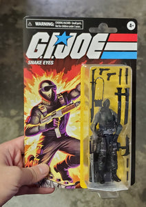 Hasbro Retro G.I. Joe Snake Eyes Walmart Exclusive Action Figure