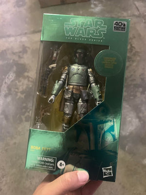 Star Wars Black Series 40th Carbonized Boba Fett Exclusive 6 Inch Action Figure