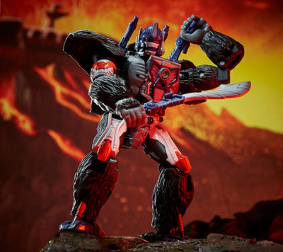 Transformers Generations War For Cybertron: Kingdom Voyager Optimus Primal Action Figure WFC-K8