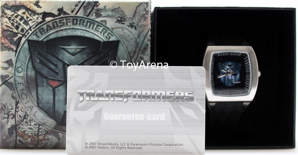 Transformers Metal Decepticon Logo Dial Watch