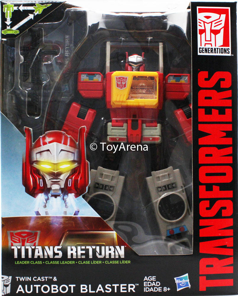 Transformers Generations Titans Return Leader Class Twin Cast and Autobot Blaster Figure
