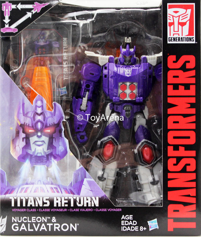 Transformers Generations Titans Return Voyager Class Nucleon and Galvatron Figure
