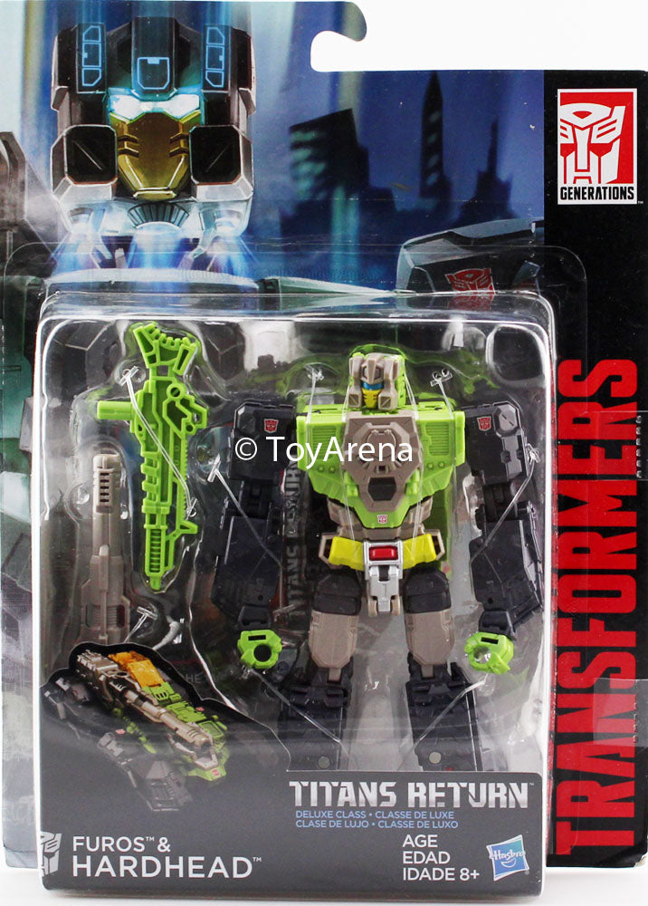 Transformers Generations Titans Return Deluxe Class Furos and Hardhead Figure