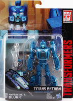 Transformers Generations Titans Return Deluxe Class Hyperfire and Blurr Figure
