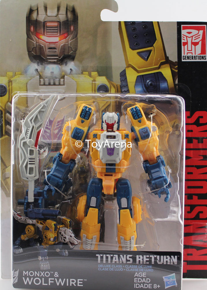 Transformers Generations Titans Return Deluxe Class Monxo & Wolfwire Figure