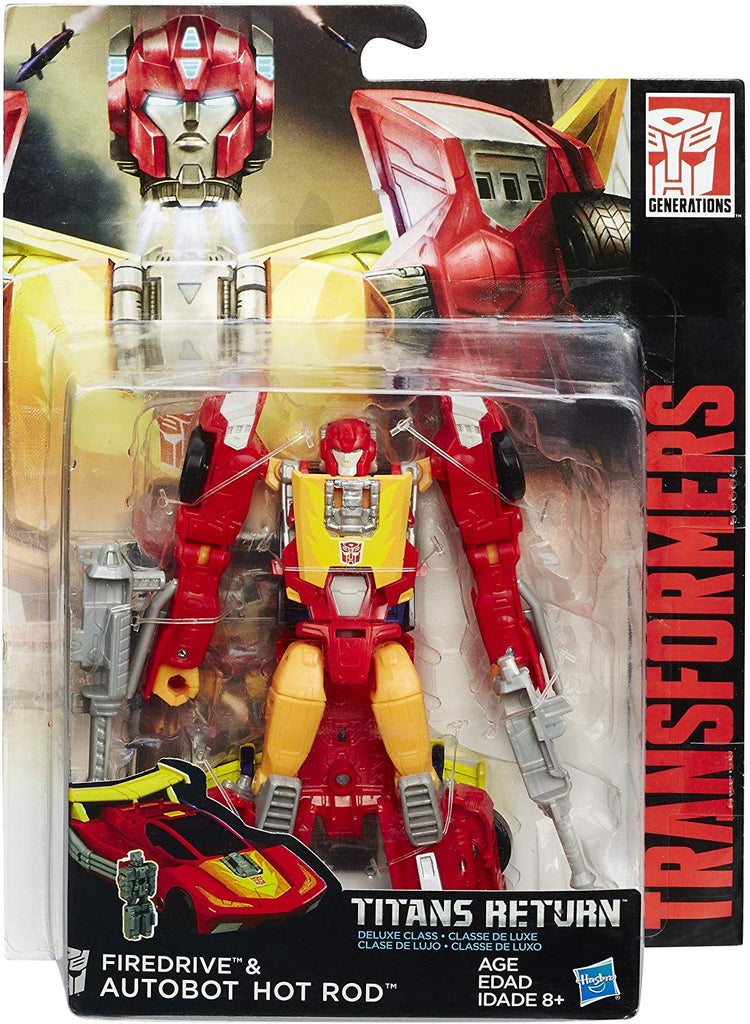 Transformers Generations Titans Return Deluxe Class Hot Rod & Firedrive Action Figure 1