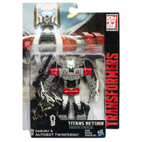 Transformers Generations Titans Return Deluxe Class Twinferno and Daburu Figure