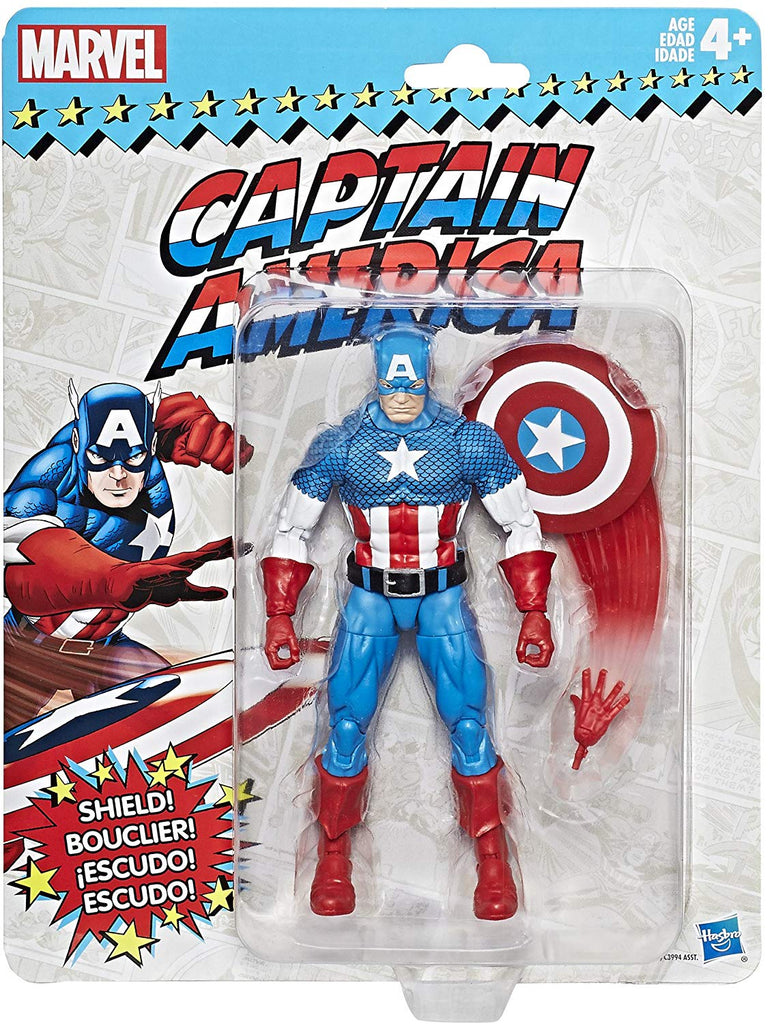 Marvel Legends Vintage Retro Series Captain America Wave 1 Action Figure 1