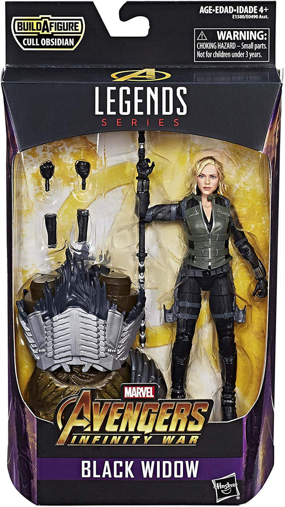 Marvel Legends Avengers Series Black Widow Cull Obsidian BAF Wave Action Figure 1