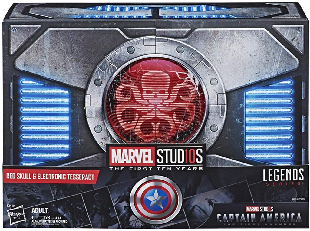 SDCC 2018 Hasbro Marvel Legends Series Red Skull and Electronic Tesseract Action Figure Set 1