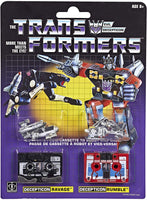 Transformer Vintage G1 Reissue Cassette 2-Pack Decepticons Ravage and Rumble Action Figure 1