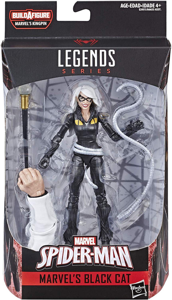 Marvel Legends Spiderman Series Black Cat Kingpin BAF 1