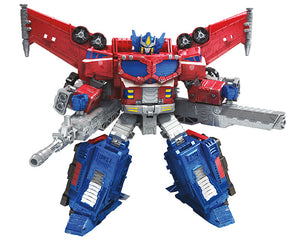 Transformers Generations War For Cybertron: Siege Leader Galaxy Upgrade Optimus Prime Action Figure WFC-S40