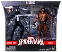 Marvel Legends Spiderman Symbiote and Kraven 2 Pack Action Figure Exclusive