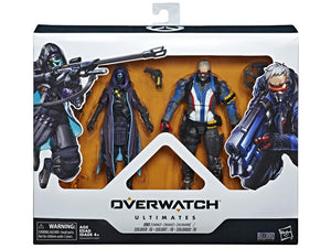 Hasbro Overwatch Ultimates Dual Pack Soldier: 76 (Jack Morrison) & Shrike Ana (Ana Amari) Action Figure Set