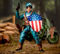 Marvel Legends Ultimate Captain America with Motorcycle Action Figure 5