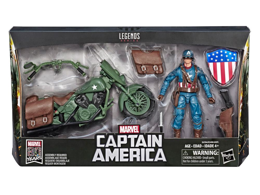 Marvel Legends Ultimate Captain America with Motorcycle Action Figure 1